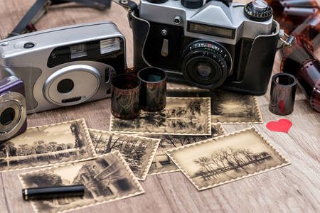 Old cameras and photographs