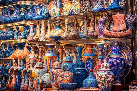 Ceramika turecka na Krytym Bazarze