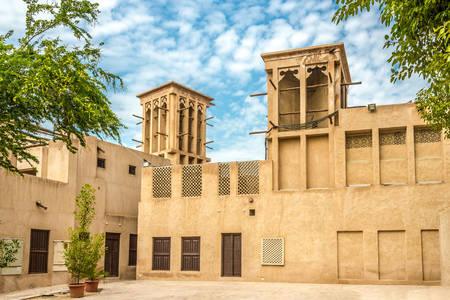 The architecture of the Al Fahidi district in Dubai