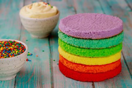 Rainbow cake cakes