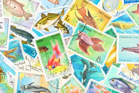 Selos postais antigos