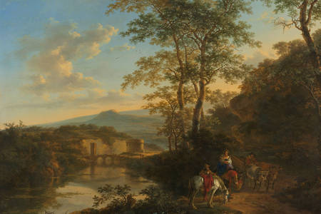 "Jan Both: ""Italian Landscape with the Ponte Molle"""