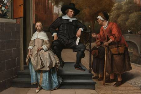 "Jan Steen: ""A Mayor of Delft and his Daughter"""