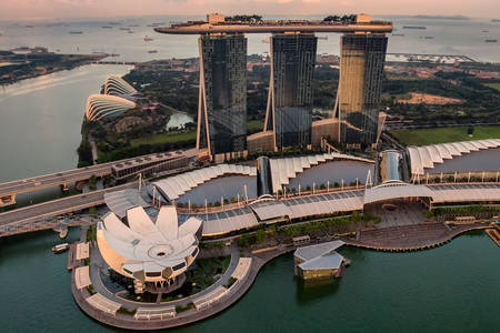 Marina Bay Sands Hotel...
