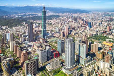 Taipei wolkenkrabbers