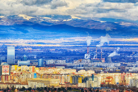 Panorama of Sofia city