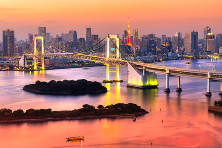 Tokyo gökkuşağı köprüsü
