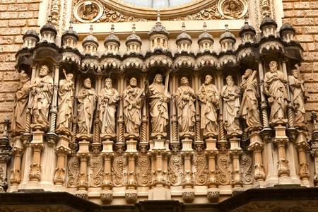 Facade of Montserrat Monastery