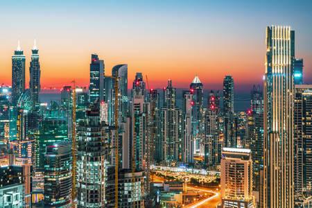 Dubai város felhőkarcolói