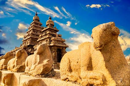Береговой храм в городе Мамаллапурам