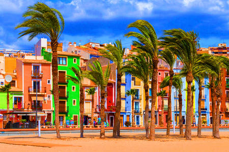 The colorful town of Villajoyosa