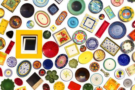 Façade d'une boutique de poterie