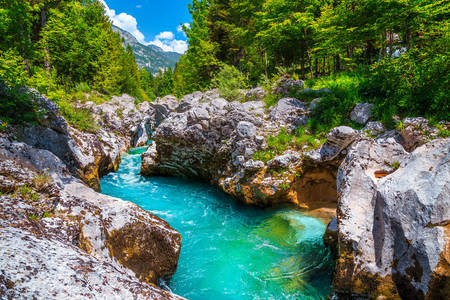 Turquoise river Soča