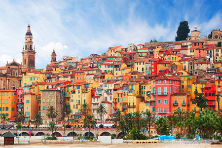 View of the old part of Menton