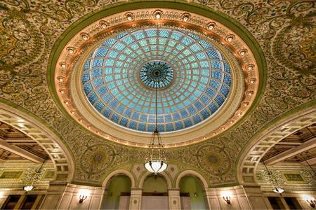 Tiffany Dome στο Πολιτιστικό Κέντρο του Σικάγου