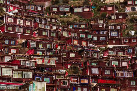 Houses at Seda Umin Buddhist College