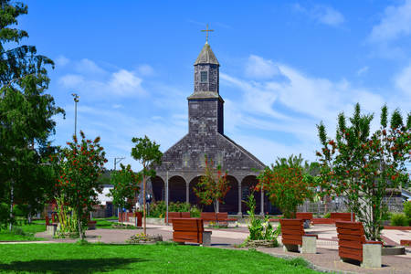 Church in Achao on the island of Chiloe