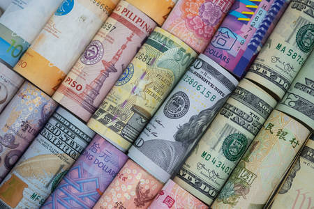 Money banknotes of the world