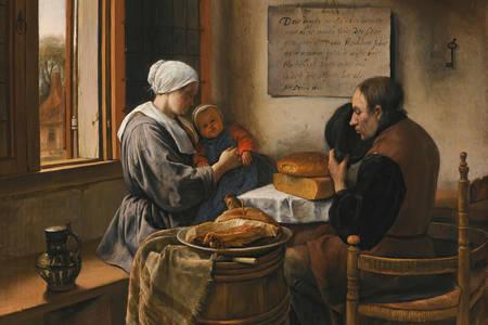 """Jan Steen: """"Prayer before meals"""""""