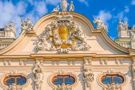 Belvedere façade in Vienna