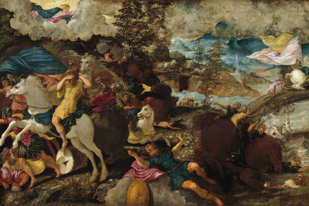 """Jacopo Tintoretto: """"Conversion of St. Paul"""""""