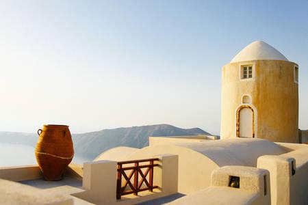 Santorini island architecture