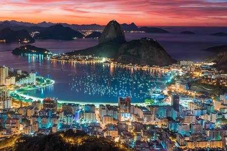 Günbatımı Rio de Janeiro