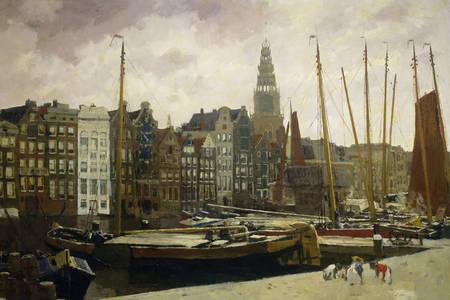 "George Hendrik Breitner: ""Damrak, Άμστερνταμ"""