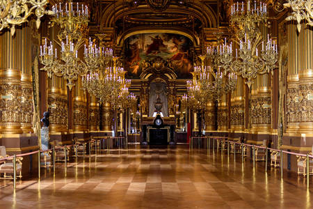 Large foyer at the Opera Garnier