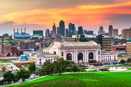 Kansas City at sunset