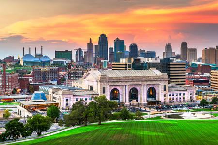 Kansas City gün batımında