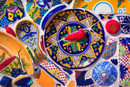 Mosaïque mexicaine colorée