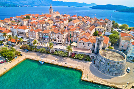 View of the town of Korcula