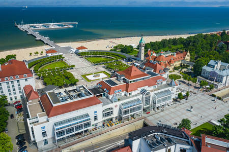 Aerial view of the city of Sopot