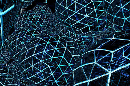 Abstraction from glowing spheres