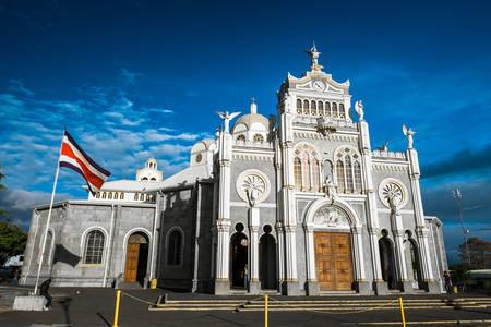 Cartago'daki Our Lady of the Angels Bazilikası'nın görünümü
