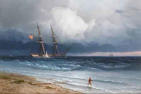 """Ivan Aivazovsky: """"Brod na obali, 1861"""""""