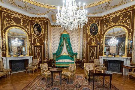 Interior do quarto no Castelo Real de Varsóvia