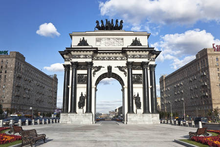 Arco triunfal en Moscú