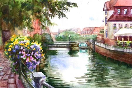 Oraș pe râu