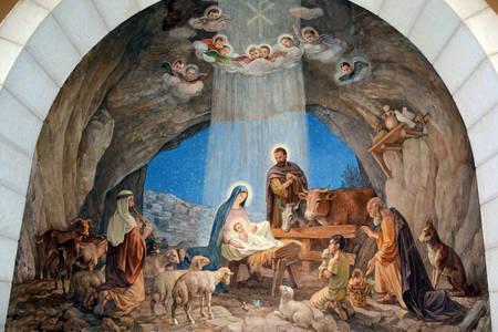Fresco in the Chapel of the Shepherd's Field