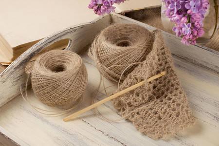 Thread and crochet hook