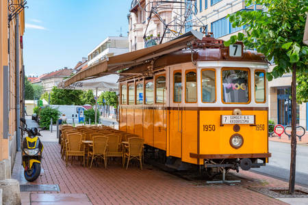 Tram cafe on Szeged street
