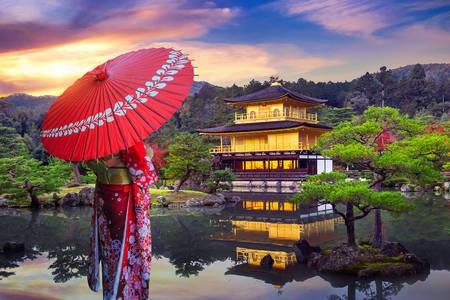 Храм Кинкакудзи в Киото