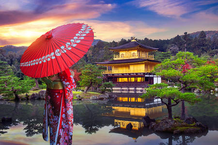 Hram kinkakuji u Kjotou