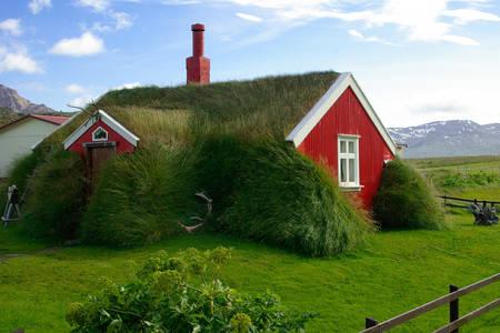 Islandzkie domy z murawy