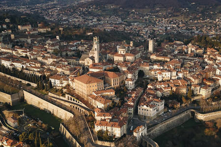 Bird's eye view of Bergamo