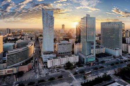 Arranha-céus modernos de Varsóvia