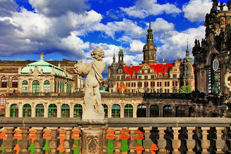 The architectural complex of palace buildings - Zwinger