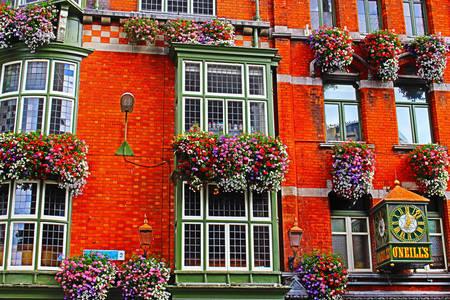 Bar facade in downtown Dublin